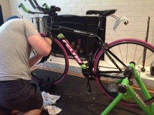 Rear seat stays done, working on the front fork!