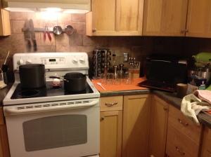 The stove setup