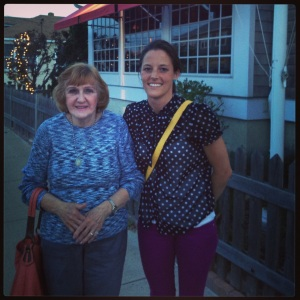 Grandma and me in May 2013 after dinner at The Offshore